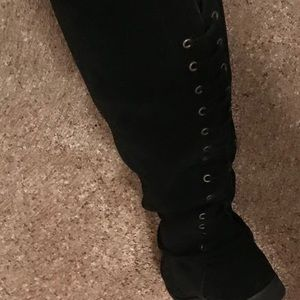 Suede Knee High Boots